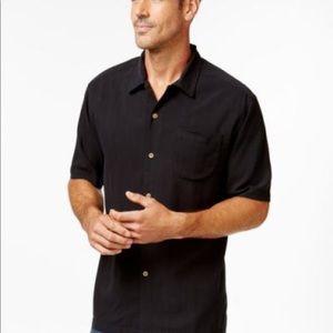 Black TOMMY BAHAMA Silk Button Up Men's Shirt